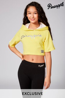 Pineapple Exclusive Short Sleeve Crop Hoody
