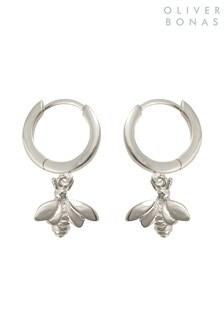 Oliver Bonas Sterling Silver Bee Huggie Earrings