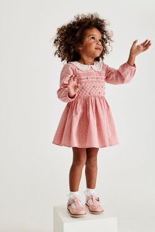 Shirred Long Sleeve Prom Dress (3mths-7yrs)