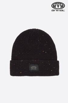 Czarna dzianinowa czapka beanie Animal Allex