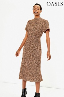 Oasis Animal Leopard Midi Dress