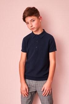 Textured Knitted Poloshirt (3-16yrs)