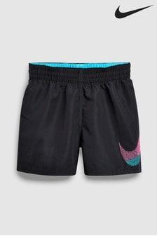 "Nike Swim Black Mash Up Breaker 4"" Volley Swim Short"