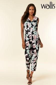 Wallis Black Petite Orchid Jumpsuit
