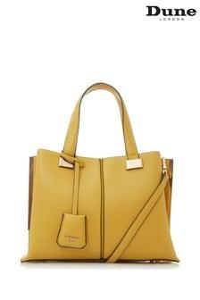 Dune London Yellow Boxy Tote Bag