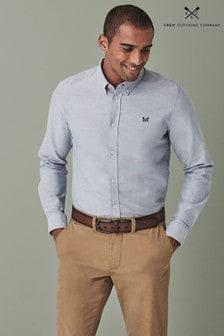 Crew Clothing Company Silver Crew Slim Oxford Shirt
