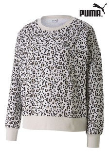 Puma® Leopard Print Graphic Crew Sweat Top