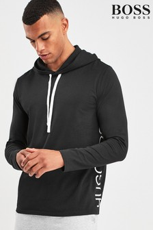 BOSS Black Identity Long Sleeve Hooded Shirt