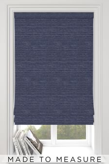 Jasper Indigo Blue Made To Measure Roman Blind