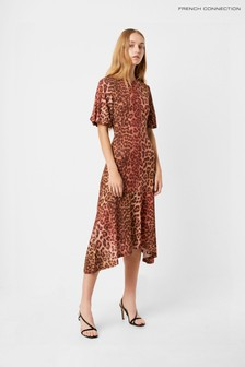 French Connection Animal Leopard Jersey Dress
