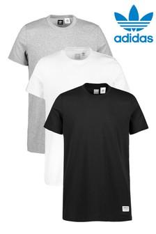 adidas Originals Black/White/Grey T-Shirts 3 Pack