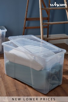 Set of 2 Crystal 110L Boxes by Wham