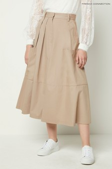 French Connection Blue Edie Cotton Culottes