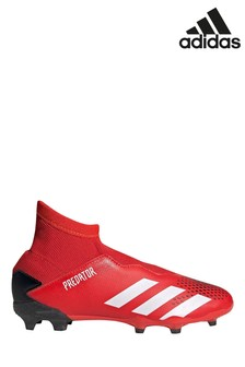 adidas Red P3 Predator Laceless Junior & Youth Football Boots