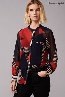 Phase Eight Multi Clarice Graphic Print Blouse