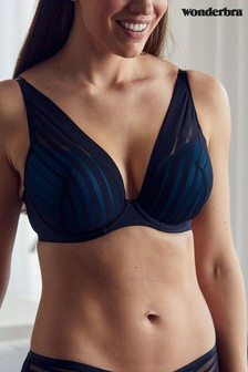 Wonderbra® Black/Blue Fabulous Feel Cleavage Triangle Bralette