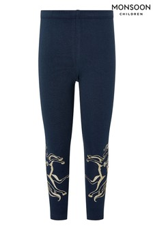 Monsoon Blue Navy Pegasus Leggings