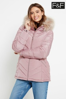 F&F Pink Short Padded Coat
