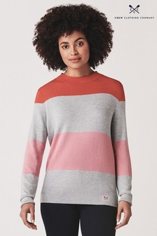 Crew Clothing Orange Rugby Stripe Jumper