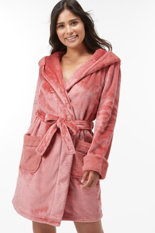 Supersoft Robe With Faux Fur Trims