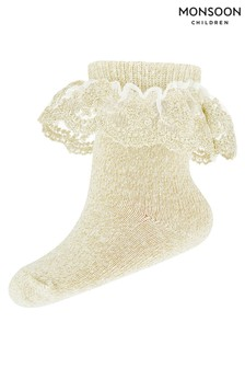 Monsoon Baby Ellen Gold Sparkle Socks