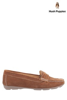 Hush Puppies Tan Margot Slip-On Loafers