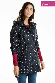 Joules Navy Spot Packaway Golightly Jacket