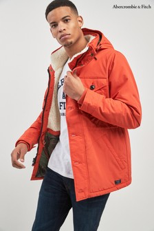 Abercrombie & Fitch Orange Trekking Parka