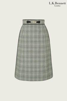 L.K.Bennett Green Faye Skirt