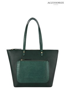 Accessorize Green Emily Tote Bag