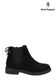 Hush Puppies Black Maddy Ladies Ankle Boots