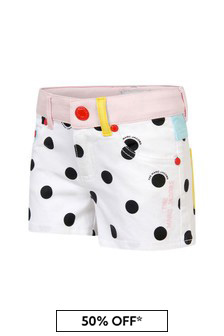 Marc Jacobs Girls White Cotton Shorts