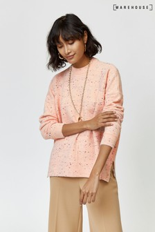 Warehouse Light Pink Nep Cosy Jumper