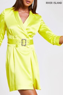 River Island Yellow Seasonal Edit Blazer Dress