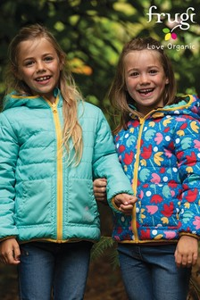 Frugi Lotus Bloom Recycled Reversible Packaway Jacket