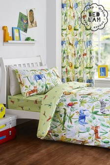 Jungle Duvet Cover and Pillowcase Set by Bedlam
