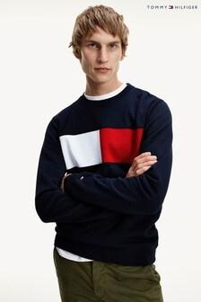 Tommy Hilfiger Blue Intarsia Sweatshirt
