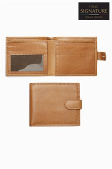 Signature Italian Leather Popper Wallet