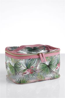 Flamingo Print Make-Up Bag