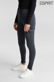Esprit Womens Grey Woven Skinny Pants