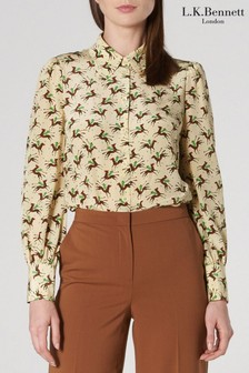 L.K.Bennett Cream Sonya Silk Shirt