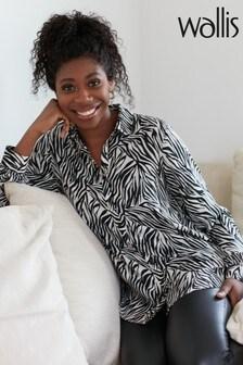 Wallis Monochrome Zebra Print Shirt