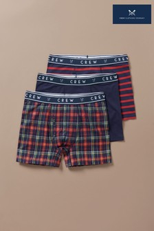 Crew Clothing Red 3 Pack Boxer Box