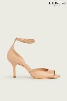 L.K.Bennett Neutral Noreen Square Toe Sandals