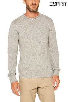 Esprit Grey Crew Neck Mouliné Jumper