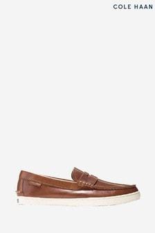 Cole Haan Tan Pinch Weekender Loafer Slip-On Shoes