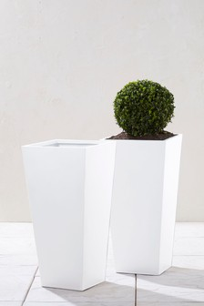 Set of 2 Zinc Planters