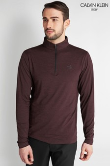 Calvin Klein Golf Purple Newport Half Zip Top