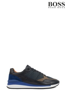 BOSS Blue Element Runn Lace-Up Trainers