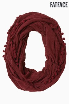 FatFace Purple Pom Pom Snood
